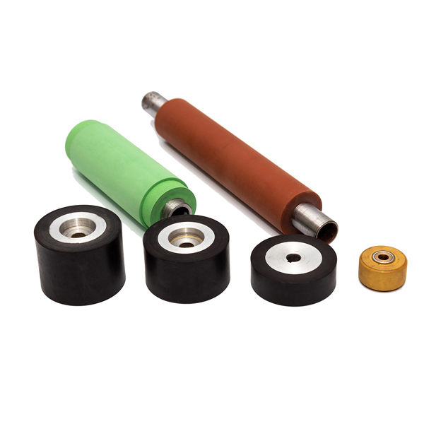 Rubber rollers and wheels